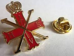 RED CROSS OF CONSTANTINE Knights Prince Masonic Tie Tack Jacket Hat Lapel Pin