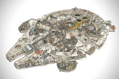 Incredible Cross Sections of Star Wars by David Reynolds 2