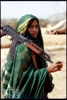 Africa: Fighter with AK-47. (Tuareg?)