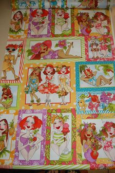 Loralie Designs - Hu LaLa High Quality Designer Fabric Panel - Adorable!!! #LoralieDesigns