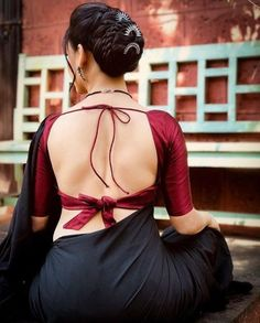 Blouse back neck designs are everything when it comes to picking a good blouse. Here are 40 latest blouse back neck designs that will inspire you to stitch the best blouse for your big day! Indian Blouse Designs, Blouse Back Neck Designs, Fancy Blouse Designs, Latest Saree Blouse Designs, Choli Designs, Saris, Sari Bluse, Saree Backless, Stylish Blouse Design