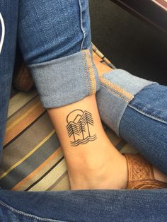 Trendy Tattoo Small Mountain I Love Ideas - Top 500 Best Tattoo Ideas And Designs For Men and Women Trendy Tattoos, New Tattoos, Tattoos For Guys, Cool Tattoos, Colorful Tattoos, Ankle Tattoos, Tatoos, Piercing Tattoo, Arm Tattoo