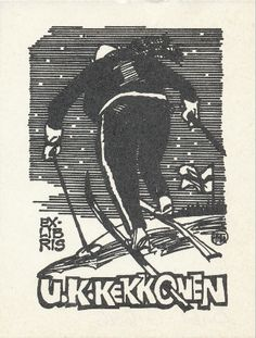 Hugo Hiibus on tehnyt tämän Ex Libriksen. Mikä mahtaa olla taustalla oleva tarina?