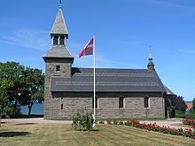 Gudhjem Church is the parish church of Gudhjem on the north coast of the Danish island of Bornholm.