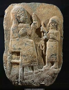 ANTIQUITIES ORIENTAL- HITTITE SCULPTURE 8TH BCE Tomb-stele, woman with distaff, child. Basalt, H- 100 cm Late Hittite, 8th-7th BCE | Flickr - Photo Sharing!