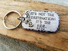 Hey, I found this really awesome Etsy listing at https://www.etsy.com/listing/398719657/personalized-hand-stamped-keychain-biker