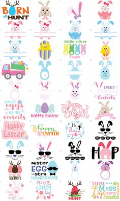 Easter Collection with 40 Files (SVG, DXF, EPS & PNG Format)