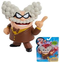 DreamWorks Captain Underpants 5 inch Collectible Action Figure - PROFESSOR POOPYPANTS - Figures Come with a Hypno Ring for Kids to Wear! Popular Book Series, Popular Books, Netflix Originals, The Originals, Captain Underpants, Bouncy Castle, Painted Pumpkins, Collector Dolls, Dreamworks