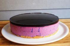 Borůvkové zrcadlo od Maryny Cheesecakes, Sweet Tooth, Tray, Baking, Food, Drinking, Birthday, Kids, Mirror