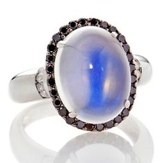 Rarities: Fine Jewelry with Carol Brodie 6.87ct Moonstone and Diamond 14K White Gold Ring at HSN.com.