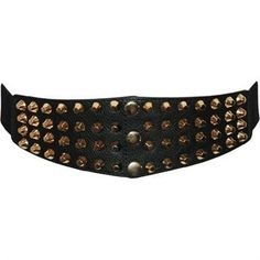 Elastic belts for women - Wide Studded Belt from The Latest Thing