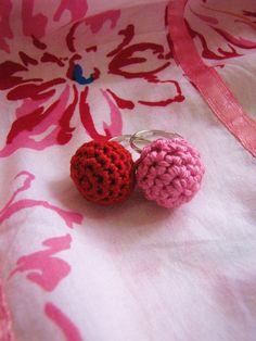 Crochet bead rings by Little Treasure, via Flickr