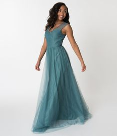 Teal Green Mesh Wrapped Sweetheart Neckline Long Dress Formal Dresses For Teens, Unique Prom Dresses, Mob Dresses, Teal Bridesmaid Dresses, Bridesmaid Color, Bridesmaids, Vintage Prom, Unique Vintage, Green Gown