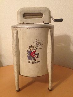 Rare Vintage Toy Washer - lol...this is considered for princesses vs pounding your laundry on rocks in a stream! ; )