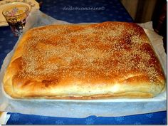 #Mattonella palermitana Cheese Recipes, Pizza Recipes, Bread Recipes, Comida Siciliana, Focaccia Pizza, Pizza Rustica, Biscotti, Nutella, Sicilian Recipes