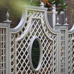 Painted Classic Bespoke Trellis Panels – Wooden Fence Trellis Panels – Essex UK, The Garden Trellis Company - All About Gardens Garden Spaces, Wooden Garden, Decorative Fence Panels, Small Garden Design, Paneling, Garden Deco, Back Garden Design, Trellis Panels, Wooden Garden Planters