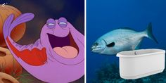 Real Fish Versus Little Mermaid Fish | Whoa | Oh My Disney