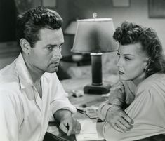 Tom Neal and Ann Savage in Detour, 1945
