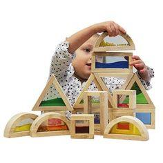 Wooden sensory blocks with inserts – coloured and shaped wooden blocks – Educating Kids - Educating Kids Sensory Blocks, Sensory Play, Special Needs Toys, Block Play, Babies First Christmas, Play To Learn, Wooden Blocks, Different Shapes, Colours