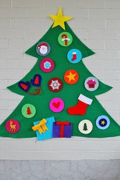 FELT CHRISTMAS TREE - decorate your own felt tree. $37.00, via Etsy.