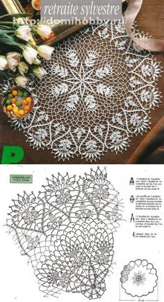 beautiful crochet doily♥ deniz - Her Crochet Crochet Doily Diagram, Crochet Doily Patterns, Crochet Art, Thread Crochet, Filet Crochet, Crochet Motif, Vintage Crochet, Crochet Stitches, Crochet Dollies