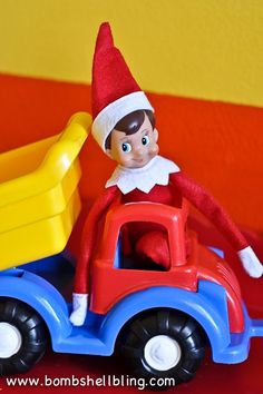 Fun & simple Elf on the Shelf ideas using toys!  #elf #elfontheshelf #christmas