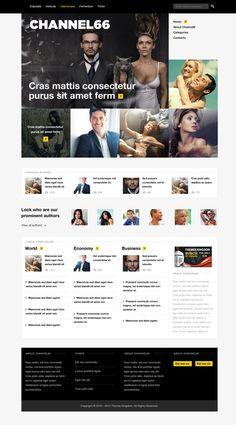 Pixel Studio - Premium Website Template - Dark on Web Design Served News Website Design, News Web Design, Mobile Web Design, Web Layout, Layout Design, Web Grid, Portal, Grid Layouts, Responsive Layout