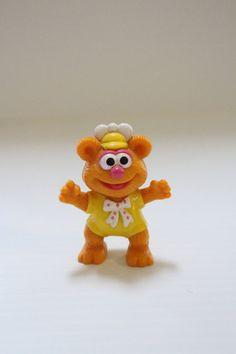 FOZZIE BEAR pvc 1986 Vintage figure Vintage Muppet by TheJellyJar