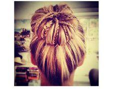 Trendy braided bun - tutorial on http://youtu.be/ee7YKgA5WtI