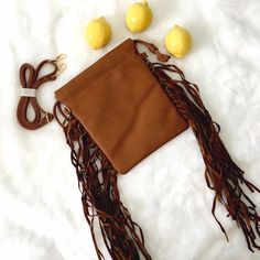 "Boho Fringe Cross Body High quality vegan material, great boho fringe detail dancing along with your day! Quantities are limited; get it while you can! L: 8"", W: 4"", H: 10"" ChicBirdie Bags Crossbody Bags"