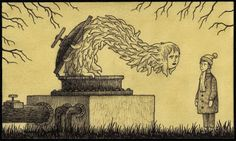 don kenn gallery/blog : monster drawings on post it notes