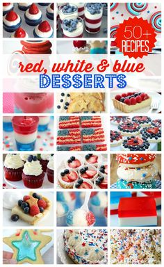 Red, White and Blue Desserts to inspire your BBQ planning!  via createcraftlove.com