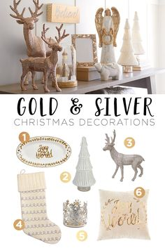 These shimmery decorations bring the magic of the holidays home. From reindeer to angels, there are more than enough ways to add some gold and silver to your Christmas decorations this year. Featured product includes: Trim-A-Tree decorations. Celebrate the season with Kohl's.
