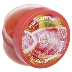 Mini Pink Grapefruit Body Scrub  I've started ordering stuff from The Body Shop, and I like them much better than Bath and Body Works.  Check it out.
