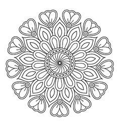 Coloring Mandalas – Coloring Pages – mandala Free Adult Coloring Pages, Mandala Coloring Pages, Free Printable Coloring Pages, Free Printables, Mandalas Painting, Mandalas Drawing, Zentangles, Mandala Dots, Mandala Pattern