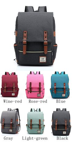 8e68e1590 Vintage Travel Backpack Leisure Canvas With Leather Backpack&School Bag  only $33.99
