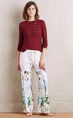 Polaire Flannel Sleep Pants #anthrofave