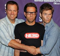 Adam Baldwin, Zachary Levi, Ryan McPartlin. Can't wait for Chuck to come back!