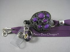 PURPLE PASSION  RN  Retractable Badge Reel  by BeasBuzzDesigns, $22.00