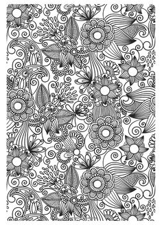 flower abstract doodle zentangle coloring pages colouring adult detailed advanced printable kleuren voor volwassenen coloriage pour - Coloring Or Colouring