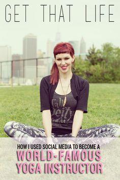 MAJOR LIFE INSPO ALERT! Sadie Nardini spoke to Cosmopolitan.com about how she built a career teaching yoga on the Internet.