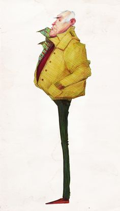 People by Audrey Benjaminsen, via Behance