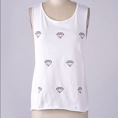 Diamonds Are Forever Tank New never used Tops Tank Tops