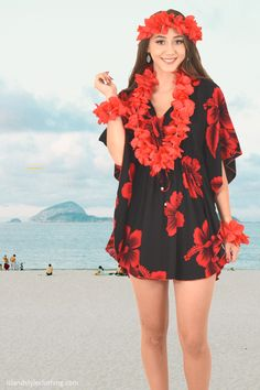🌺 Floral Hibiscus Kaftan 🌸 Pretty Ladies Kaftan Poncho in Black & Red Hibiscus - soft beach cover up. Throw this delightful caftan over your bikinis or jeans for a day at the beach, cruising or casual wear. Lots of colours and patterns to choose from. #poncho #kaftan #bikini #beachcoverup #caftan #hibiscusparty #luau #luauparty #coverup #beachwear #cruise #cruisewear