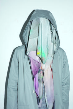 Grey Rain Mac & Light Box Print Scarf, Von Sono http://www.vonsono.de/collections/accessories/products/scarf-lightbox-print http://www.vonsono.de/collections/tops/products/bomber-jacket