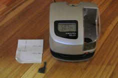Amano PIX-55 Atomic Time Clock Punch Card Machine Works Great Nice w/ key  #Amano