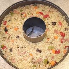 Rice with curry and bacon recipe from efh_dimitris . How To Cook Rice, Food To Make, Bacon Recipes, Healthy Recipes, Cookbook Recipes, Cooking Recipes, The Kitchen Food Network, Greek Recipes, Food Network Recipes
