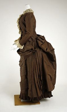 Wedding dress Date: 1882 Culture: American Medium: silk