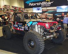 Derek had the AEM air filter equipped # 20 Nitto Tire/Northstar Battery/KMC wheels Ultra 4 Race Car on display in the Northstar Battery 2015 SEMA Show booth, # 25029