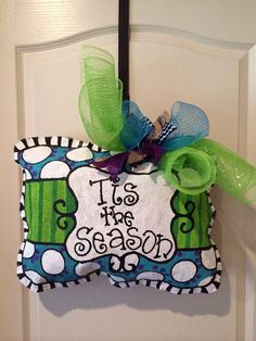 Tis the Season pillow burlee hanger